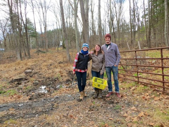 Scott and Sarah, my other lovely farmer/runner friends who grew up near the farm.