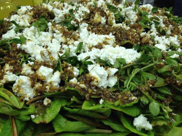 sorrel and feta salad
