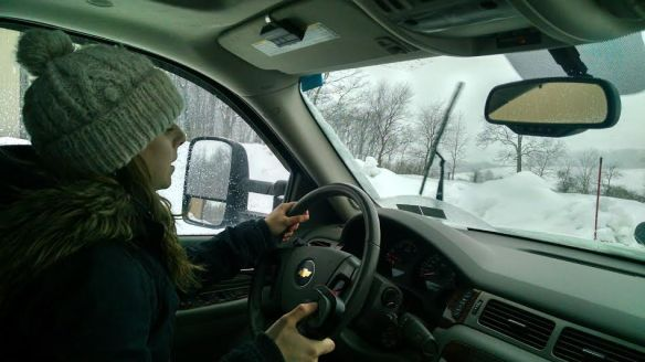 Look at her. Jess Wagner, professional plow boss.