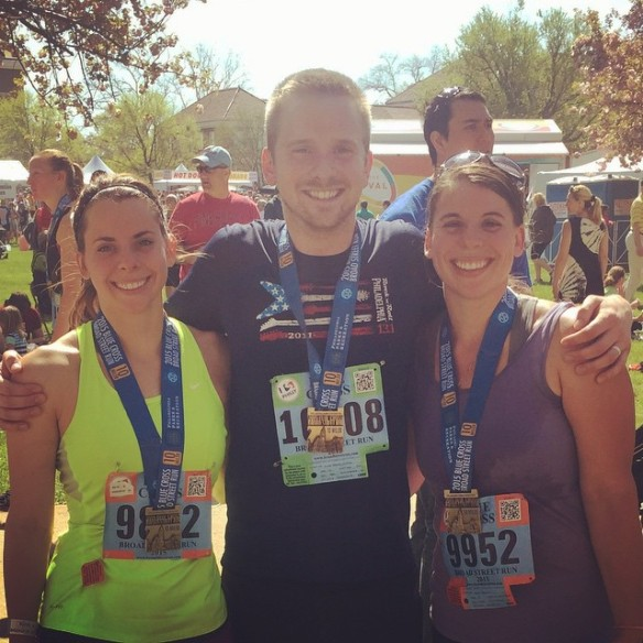 Jess, her darling Jon and I run our first trio race together since like 2012.